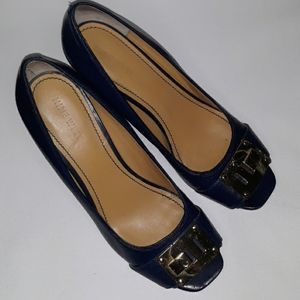 Nine West Parson Open Toe Wedge Heel Size 7.5